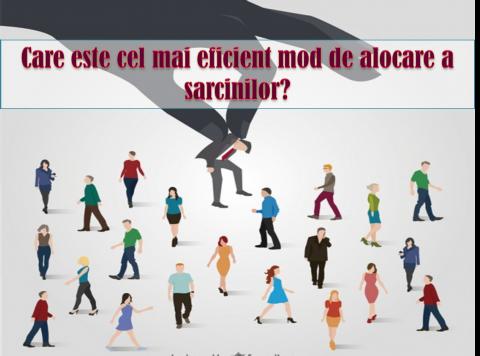 ALOCAREA SARCINILOR – alegeti cel mai potrivit angajat pentru fiecare rol