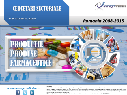 productie farmaceutice; cercetare sector productie farmaceutice; evolutie sector productie farmaceutice; profitabilitate sector productie farmaceutice; indicatori financiari productie farmaceutice