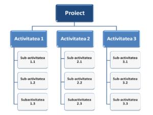 structura defalcata a activitatilor , organizarea activitatilor intr-un proiect , structurarea livrabilelor