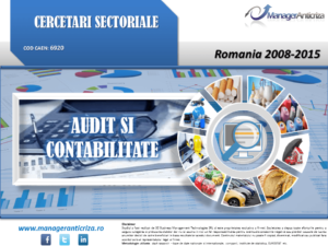 cercetare sector audit contabilitate; evolutie sector audit contabilitate; profitabilitate sector audit contabilitate; indicatori financiari sector audit contabilitate