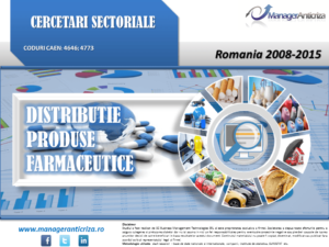 cercetare sector distributie farmaceutice; evolutie sector distributie farmaceutice; profitabilitate sector distributie farmaceutice; indicatori financiari sector distributie farmaceutice