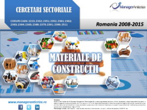 cercetare sector materiale constructii; evolutie sector materiale constructii; profitabilitate sector materiale constructii; indicatori financiari materiale constructii