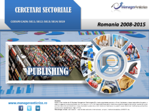 cercetare sector publishing; evolutie sector publishing; profitabilitate sector publishing; indicatori financiari sector publishing