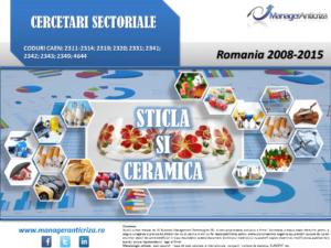 cercetare sector sticla ceramica; evolutie sector sticla ceramica; profitabilitate sector sticla ceramica; indicatori financiari sector sticla ceramica