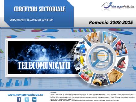 cercetare sector telecomunicatii; evolutie sector telecomunicatii; profitabilitate sector telecomunicatii; indicatori financiari sector telecomunicatii