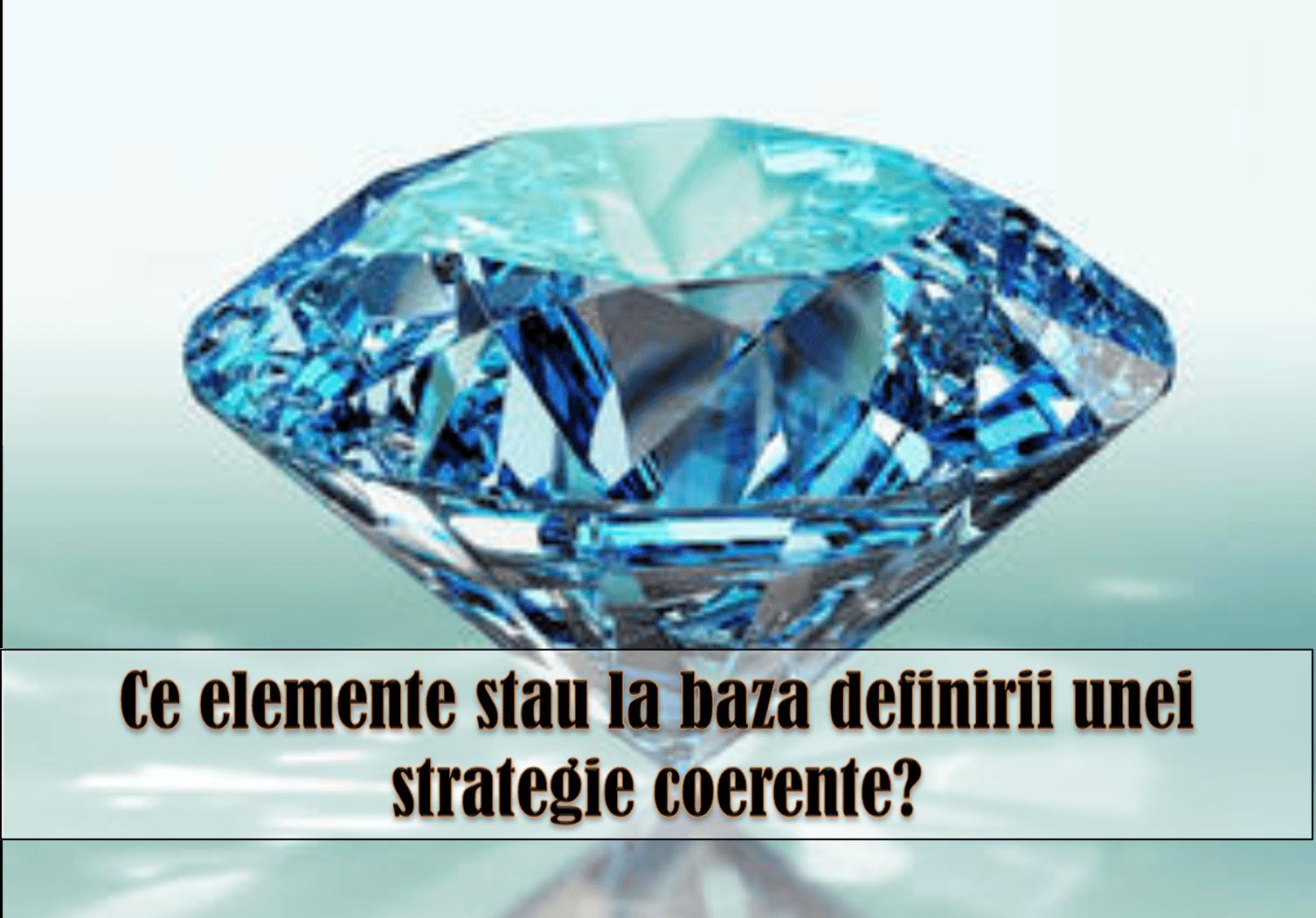 diamantul strategic; elaborarea decizilor; elementele strategiei unitare