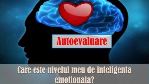 TESTATI-VA NIVELUL DE INTELIGENTA EMOTIONALA