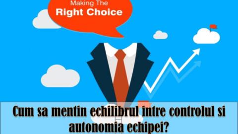 MODELUL DE LEADERSHIP TANNENBAUM-SCHMIDT – control vs autonomia echipei