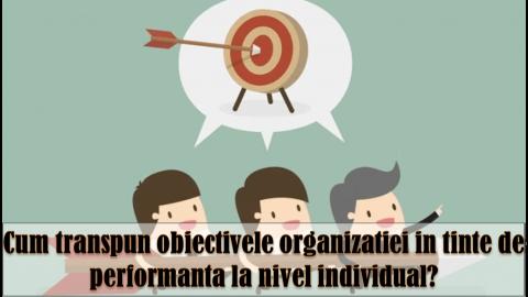MANAGEMENTUL PRIN OBIECTIVE – alinierea obiectivelor echipei cu ale organizatiei